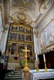Pizcas interiores de la catedral Imagen de archivo libre de regalías