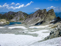 Pizolgletcher e Wildsee Imagem de Stock