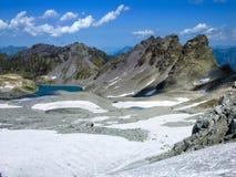 Pizolgletcher und Wildsee Stockbild