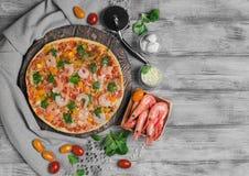 pizz garneli jedzenia fotografia Zdjęcia Stock