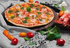 pizz garneli jedzenia fotografia Obrazy Royalty Free