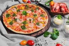 pizz garneli jedzenia fotografia Obrazy Stock