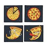 Pizz ikony, plakaty, wizerunki ustawiający Zdjęcia Royalty Free