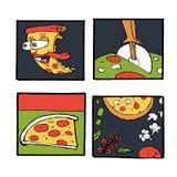 Pizz ikony, plakaty, wizerunki ustawiający Obrazy Stock