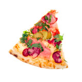 Pizza à partir de dessus Photos stock