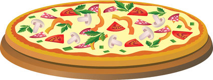 Pizza illustration de vecteur