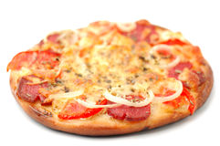 Pizza. On a white background Royalty Free Stock Images