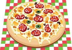 Pizza. Vector pizza with different ingredients Stock Image