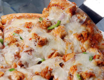 Pizza. With chicken, green chili, and onions Stock Image