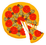 Pizza Fotografia de Stock Royalty Free