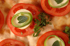 Pizza. Special pizza with smoked cheese Royalty Free Stock Image