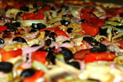 Pizza. Gradient focus,blurred in the lower part for text Stock Photography