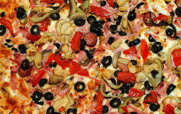 Pizza. Upper view , background use Stock Photo