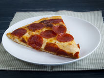 Pizza. Home made pepperoni pizza served for dinner Royalty Free Stock Photos