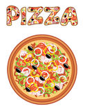 Pizza. Image of pizza on a white background Stock Images