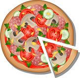 Pizza. Over white. EPS 10 Royalty Free Stock Image
