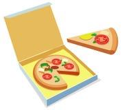 Pizza royaltyfri illustrationer