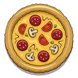 Pizza illustrazione di stock