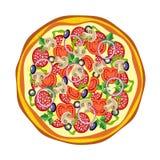 Pizza. ilustração stock