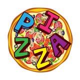 Pizza ilustração royalty free