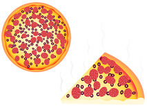 Pizza. Vector illustration of fresh pizza Royalty Free Illustration