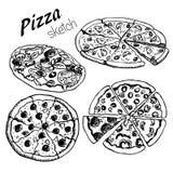 1 pizza Arkivfoton