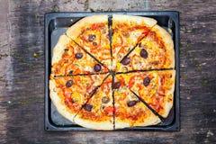 Pizza fotografía de archivo libre de regalías