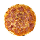 Pizza. Fresh, appetizing pizza proschiutto isolated Stock Photography