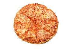 Pizza. Isolated pizza Royalty Free Stock Image