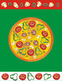 Pizza illustration stock