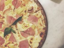 Pizza Fotografia Stock Libera da Diritti