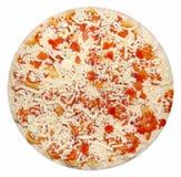 Pizza. Frozen vegetarian  pizza isolated on white Stock Photo