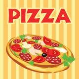 Pizza, Abbildung stock abbildung