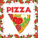 Pizza, Abbildung vektor abbildung