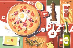 Pizza abstract background Royalty Free Stock Photography