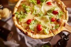 Pizza affettata italiano Immagini Stock Libere da Diritti