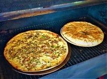Pizza affumicata di legno Fotografia Stock Libera da Diritti