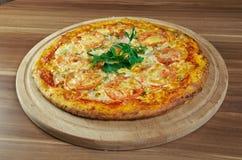 Pizza aglio, olio e pomodoro Stock Photo