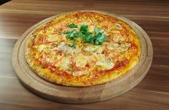 Pizza aglio, olio e pomodoro Stock Image