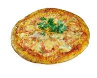 Pizza aglio, olio e pomodoro Stock Images