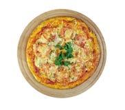 Pizza aglio, olio e pomodoro Royalty Free Stock Image