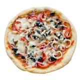 Pizza aislada Imagen de archivo libre de regalías