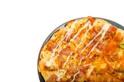 Pizza aislada en el fondo blanco Imágenes de archivo libres de regalías
