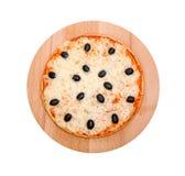 Pizza. Aislado Imagen de archivo