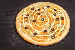 Pizza, alimenti a rapida preparazione Immagine Stock Libera da Diritti