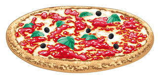Pizza, alimento italiano illustrazione di stock