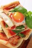 Pizza Alla Bismarck Royalty Free Stock Photo