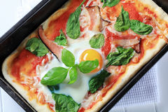 Pizza Alla Bismarck Royalty Free Stock Images