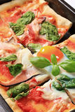 Pizza Alla Bismarck Royalty Free Stock Photography