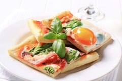 Pizza Alla Bismarck Royalty Free Stock Photo